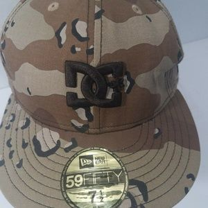 DC SHOES Camo Camoflauge New Era Fitted Hat 7.5